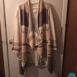 Draped Ribbed Crochet Cardigan